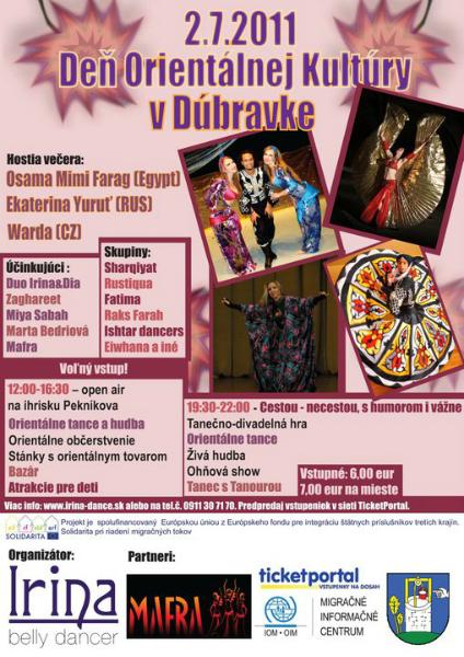 plagát k akcii Deň orientálnej kultúry Dúbravka 2011